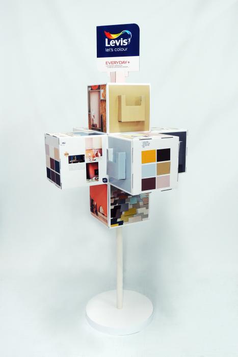 Cubes on a pole